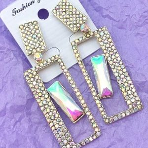 Jewelry - AB Crystal Chandelier Occasion Earrings
